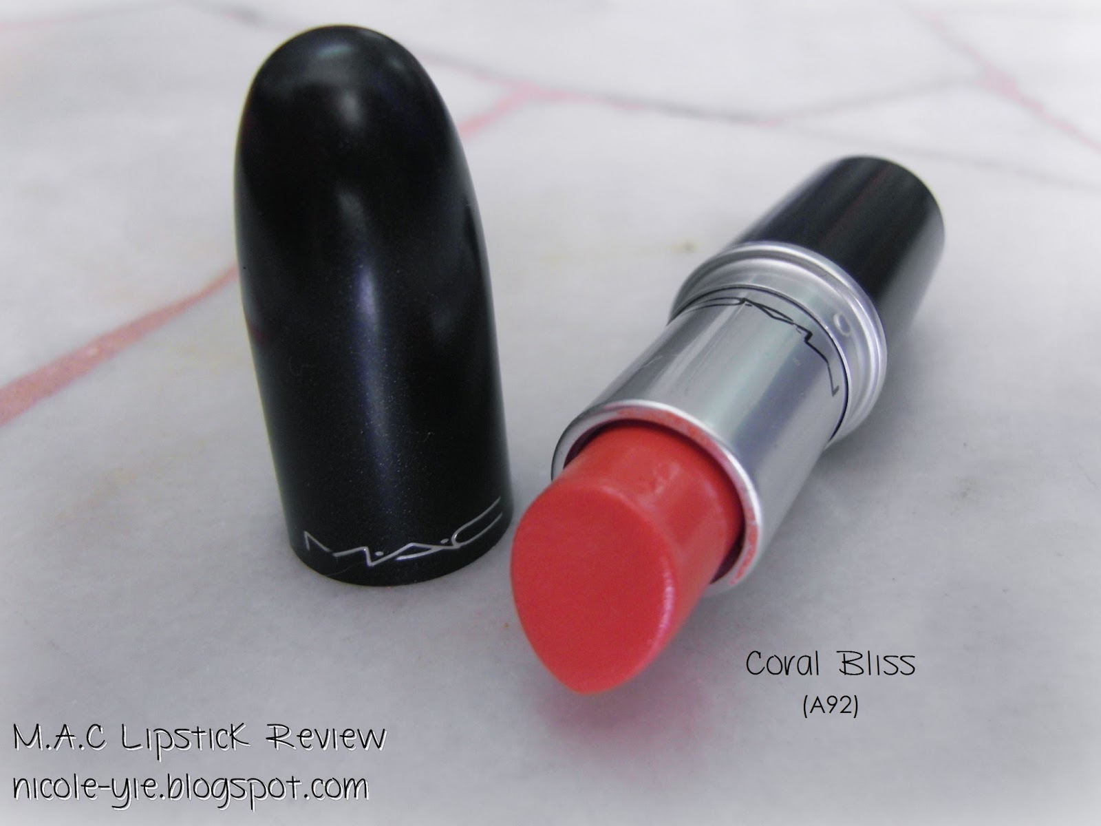 Beauty] M.A.C Cremesheen + Pearl Lipstick (Coral Bliss A92) Review ...