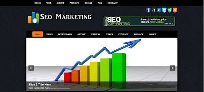 Seo Marketing Blogger Template, Template Blog SEO
