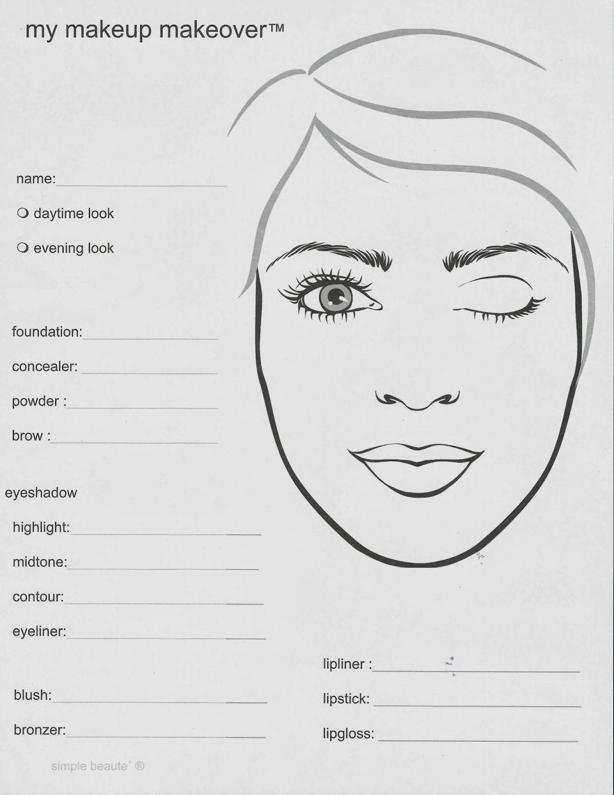 Blank Face Templates Nada Almansoori Almansoorinada On Pinterest