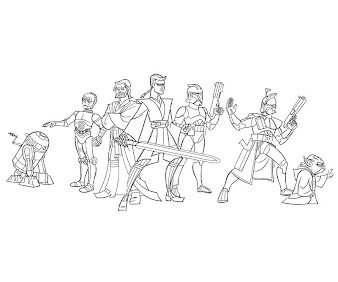 #12 Star Wars Coloring Page