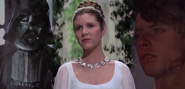 Darth Vader, Princess Leia, and Luke Skywalker