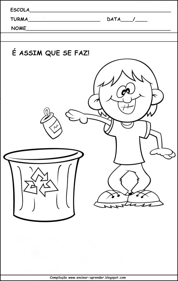 Extremamente MEIO AMBIENTE ATIVIDADES PARA EDUCAÇÃO INFANTIL | Cantinho do  KU41