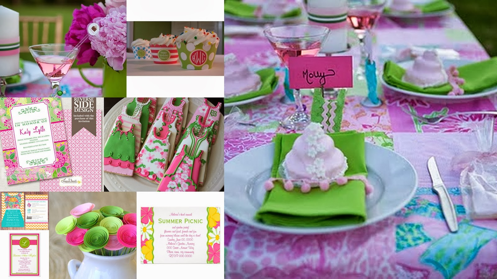 bridal shower theme lilly pulitzer inspired