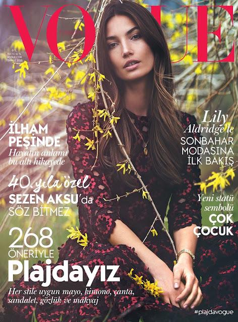 Actress, Model @ Lily Aldridge by David Bellemere for Vogue Turkey, July 2015