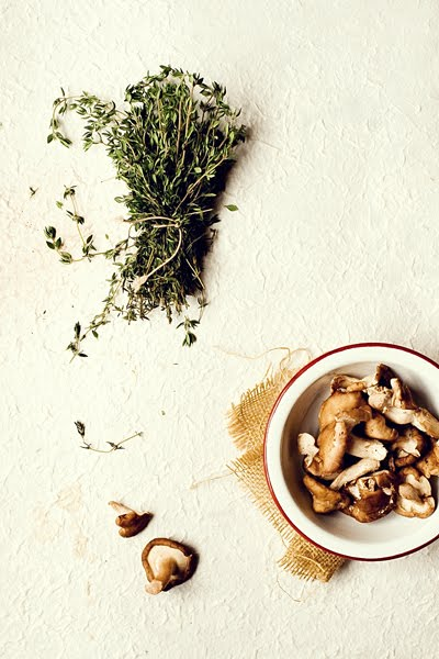 Thyme and Shiitake Mushrooms