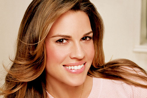 Hillary Swank is also really quite beautiful. She looks pretty rough in some ...