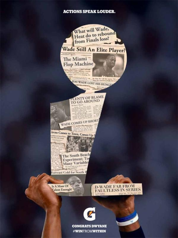 > Gatorade ad saluting Dwyane Wade on winning his 2nd NBA Championship (pic) - Photo posted in BX SportsCenter   Sign in and leave a comment below!