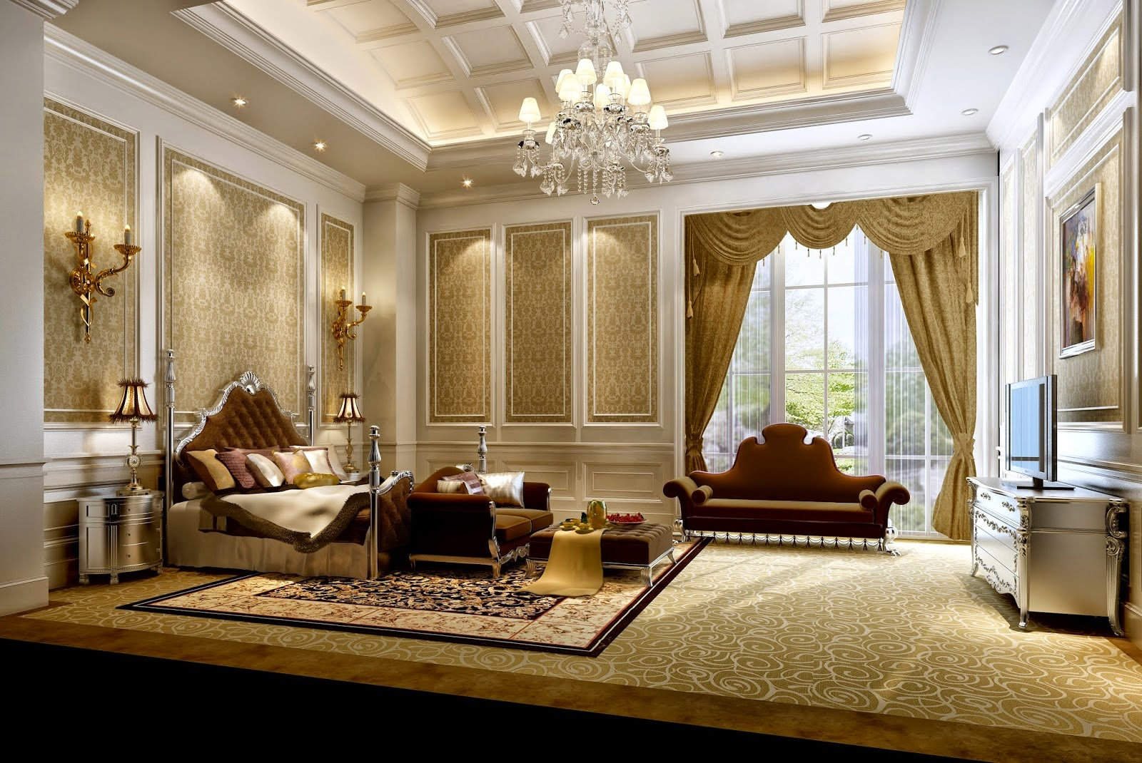 luxirious bedroom designs and ideas