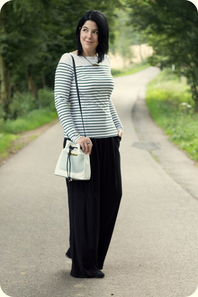Heart and Soul for Fashion, Fashionblog, Styleblog, Modeblog, Trend, Palazzo, Bucket Bag, French chic, OOTD, Outfit, Daily Look, Lookbook, Inspiration, New Look, H&M, What I wear, Styling, Fashion