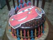 Choc  Indulgence Cream Cheese Cake With Decoration Cartoon Artwork Cake