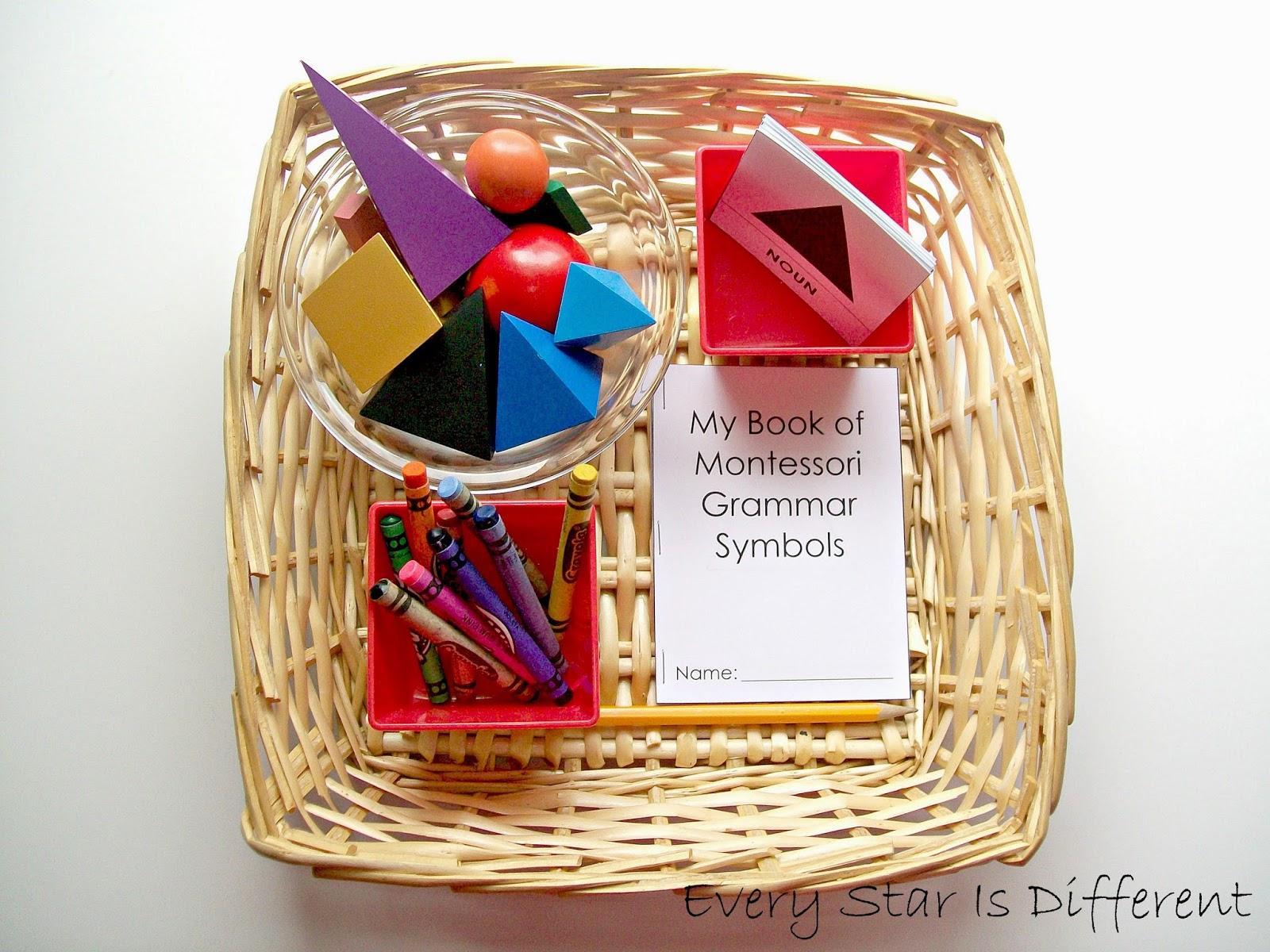 Montessori-inspired Grammar Activities - Every Star Is