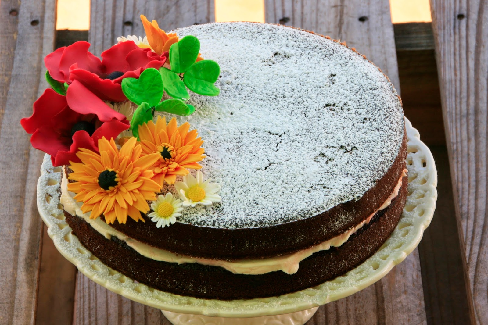Naked cake amb flors