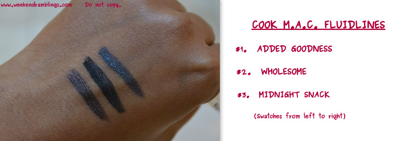 shop cook mac makeup collection 2012 beauty blog fluidlines swatches wholesome added goodness midnight snack