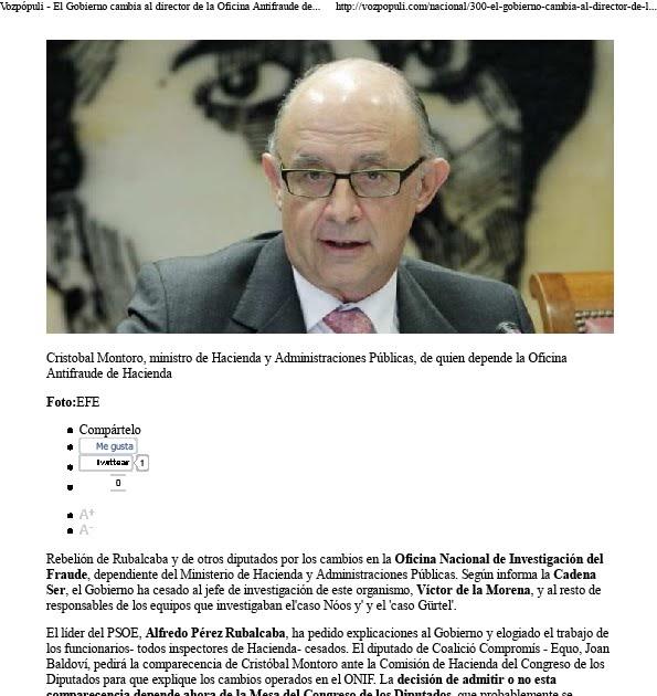 Despierta libertad relevada c pula directiva de la for Oficina hacienda barcelona