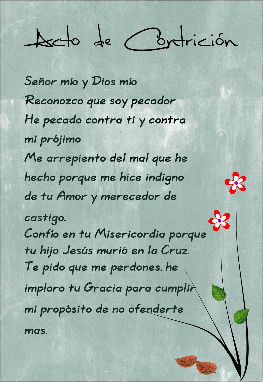 Acto De Contricion Oracion