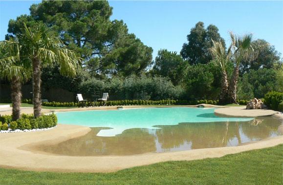 Un paseo por el para so piscinas de arena la Piscina arena compactada
