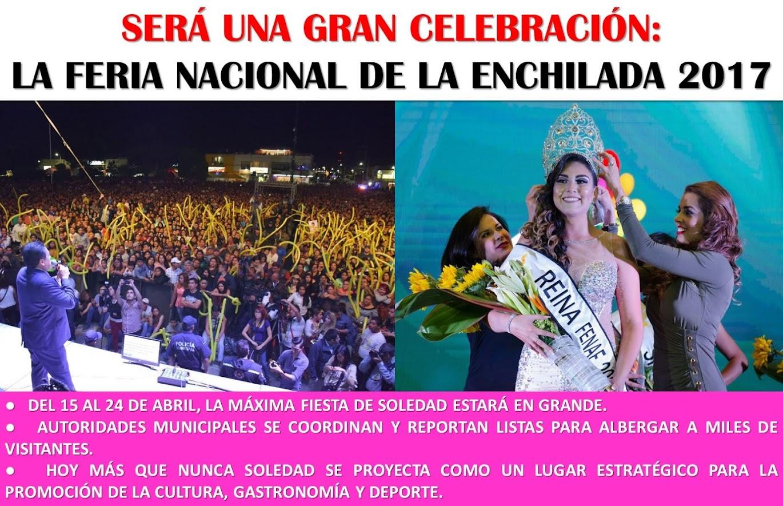 FERIA NACIONAL DE LA ENCHILADA, DEL 15 AL 24 DE ABRIL DEL 2017