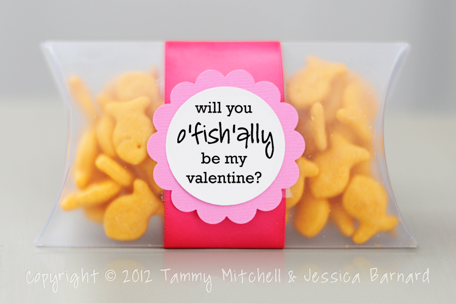It is a graphic of Wild Goldfish Valentine Printable