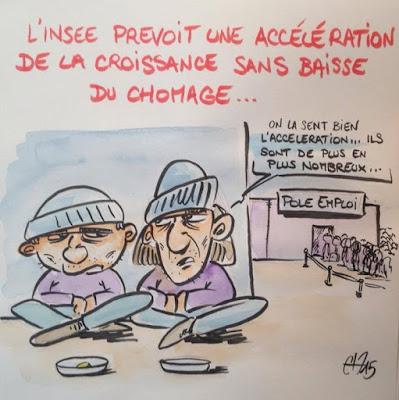 Etude de l'Insee sur la croissance et le chômage - Guillaume Néel ©