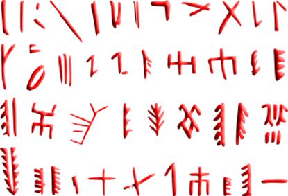 Lambang huruf Cina Kuno