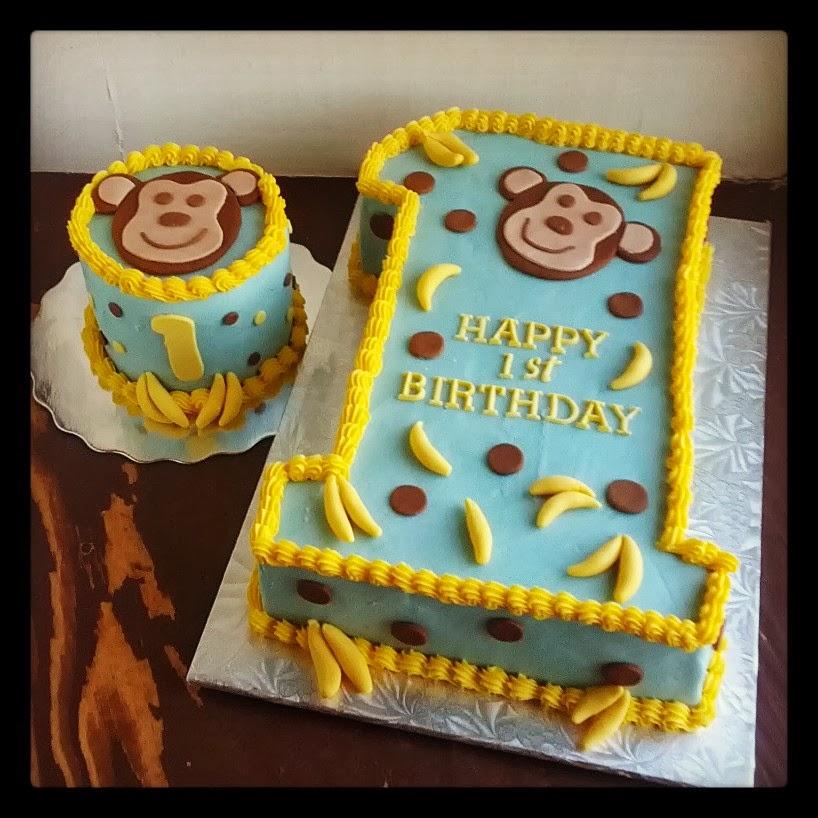 Second Generation Cake Design Monkey 1st Birthday Cake Smash Cake