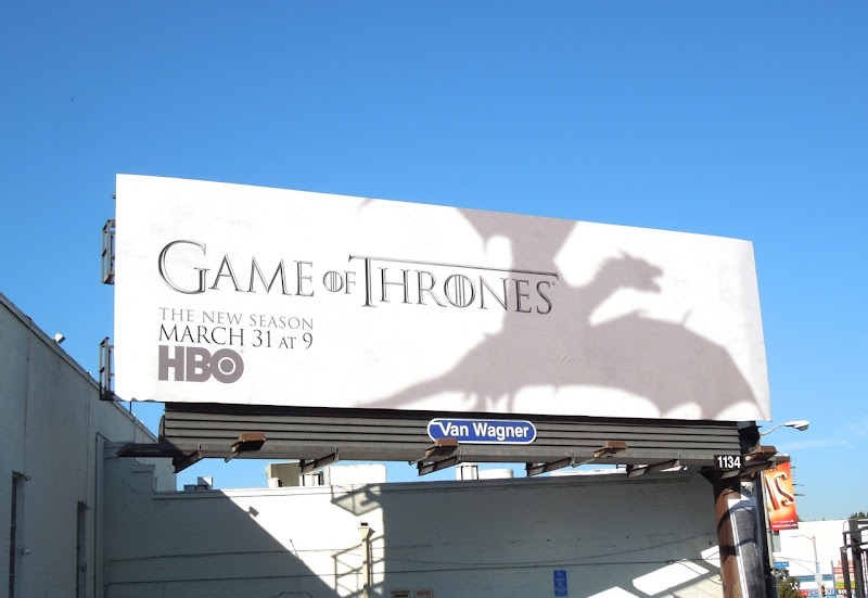 Game of Thrones dragon shadow season 3 billboard