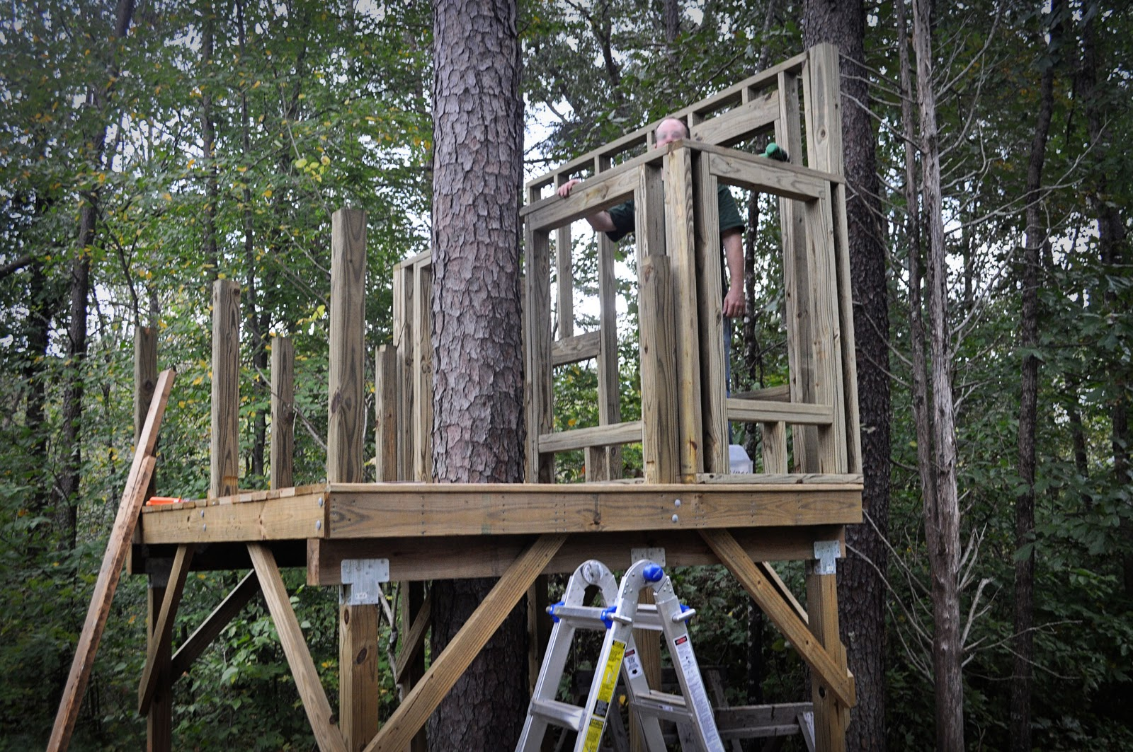 Out in them sticks treehouse update for How to build a treehouse with sticks