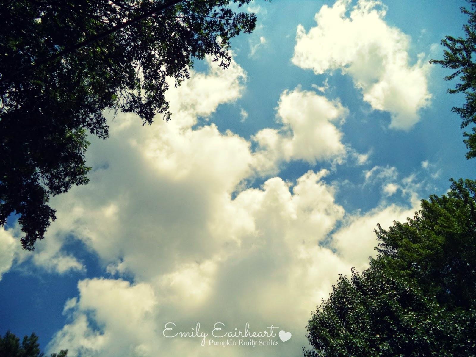 Clouds that look like fairies.
