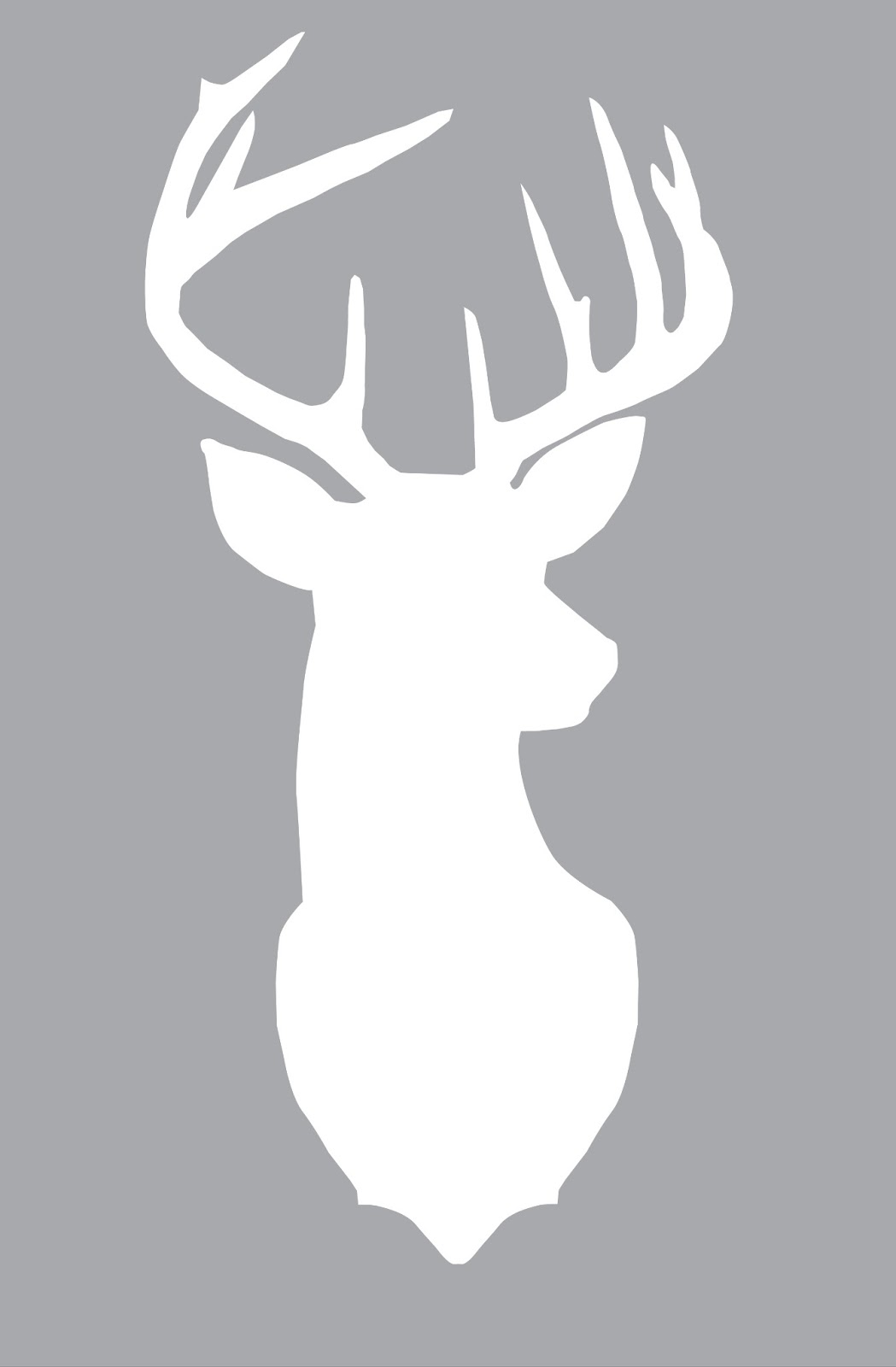 Simplicity image for deer silhouette printable