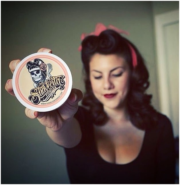 Suavecito Pomade Pocket Mirror Suavecita Skeleton Girl