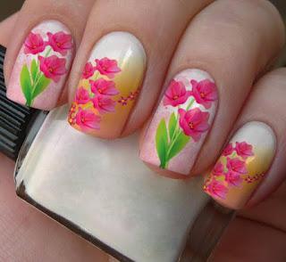 imagens adesivos de unhas flores