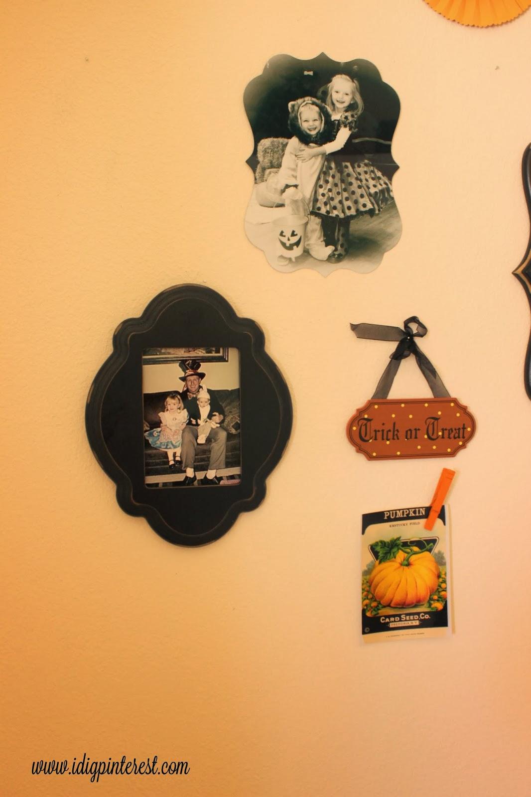 DIY Halloween Photo Collage Wall - I Dig Pinterest