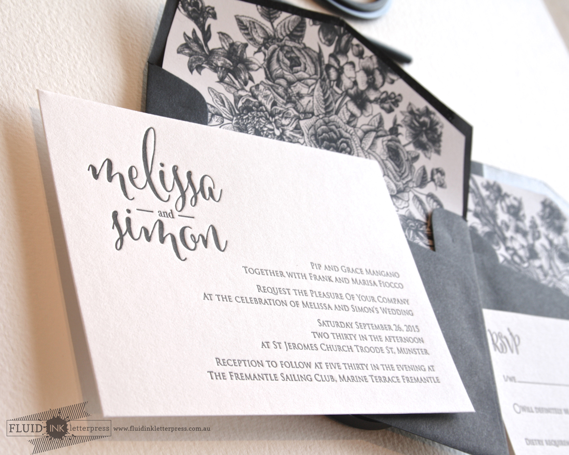 Fluid ink fine letterpress of australia simple and elegant are usually the 2 most common requests i get for an invitation suite this elegant invitation definitely ticks all of the boxes monicamarmolfo Images