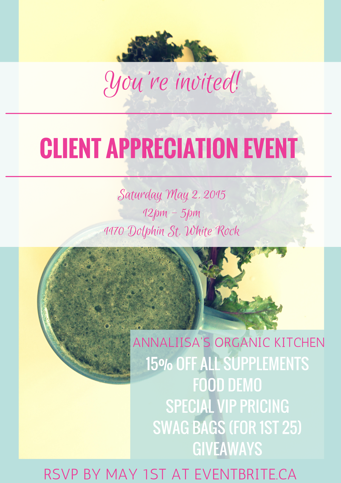 Health and wellness customer appreciation event White Rock