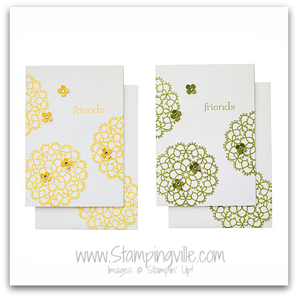 Stampin' Up! Fancy Friend Card Kit Samples