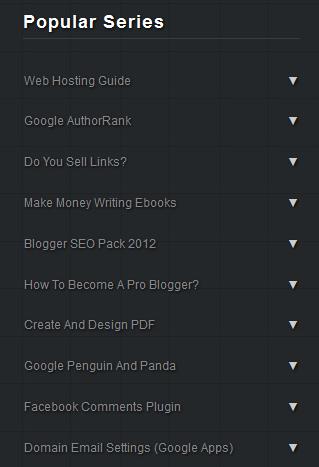 Blogger Accordion widget