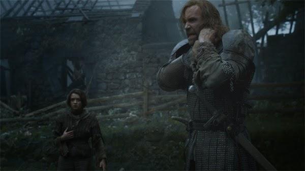 """Arya y el perro en """"Juego de Tronos 4x07"""""""