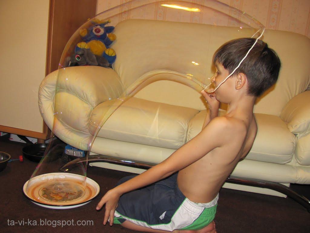 Как сделать мыльное шоу в домашних условиях