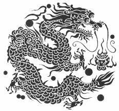 Motif Tato Naga Hitam Putih 11