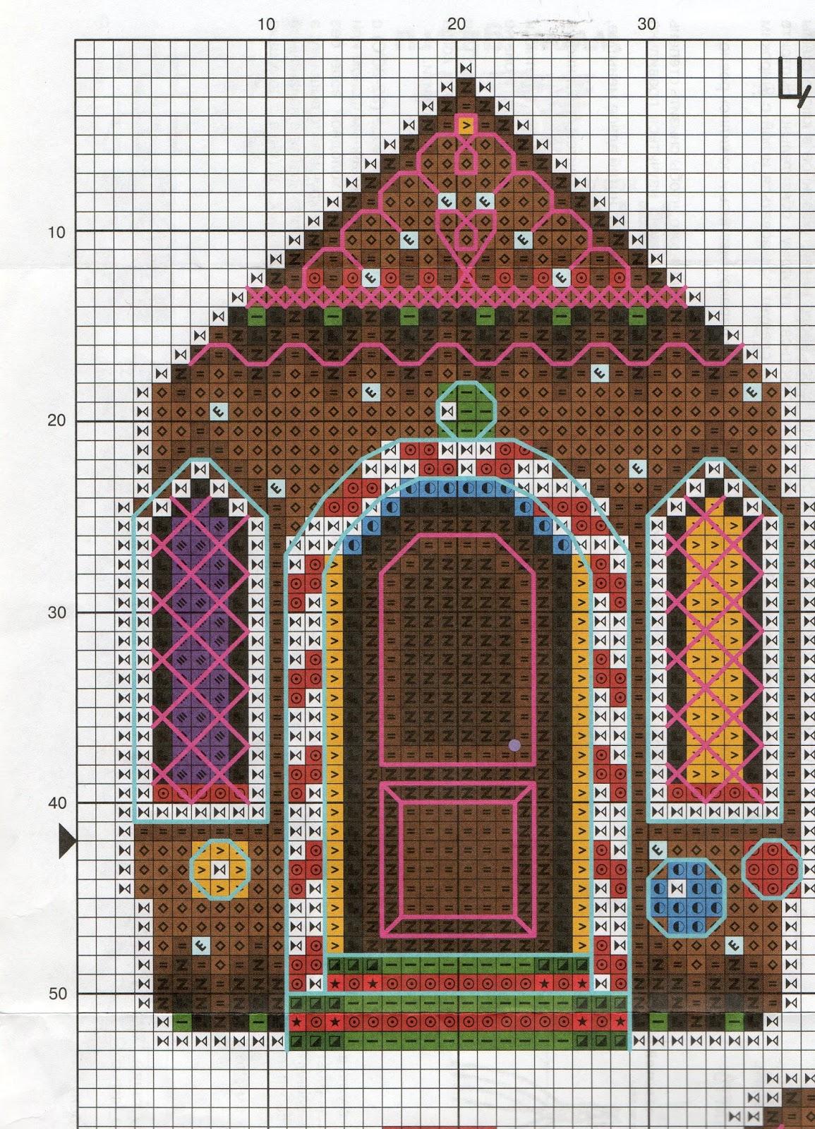Вышивка пряничный домик схема 38