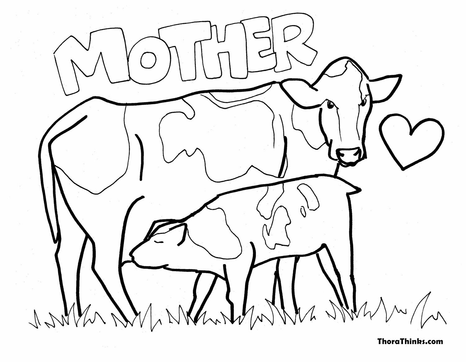 Coloring pages cow - Coloring Pages Cow 52