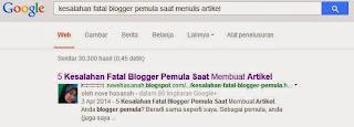 google kepengarangan dan SERP snippet