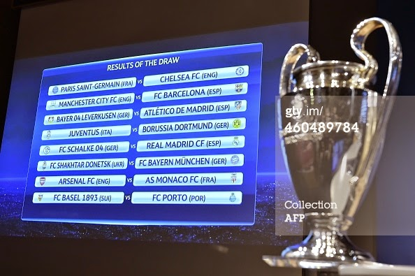 Champions League Round of 16 Draw, Arsenal Gets AS Monaco