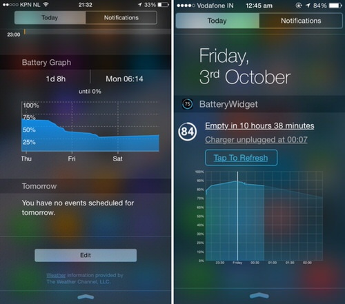 iPhoneのバッテリー消費をグラフ化するアプリ