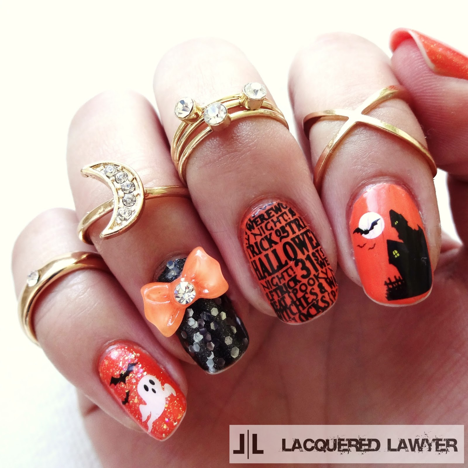 Happy Halloween Nail Art