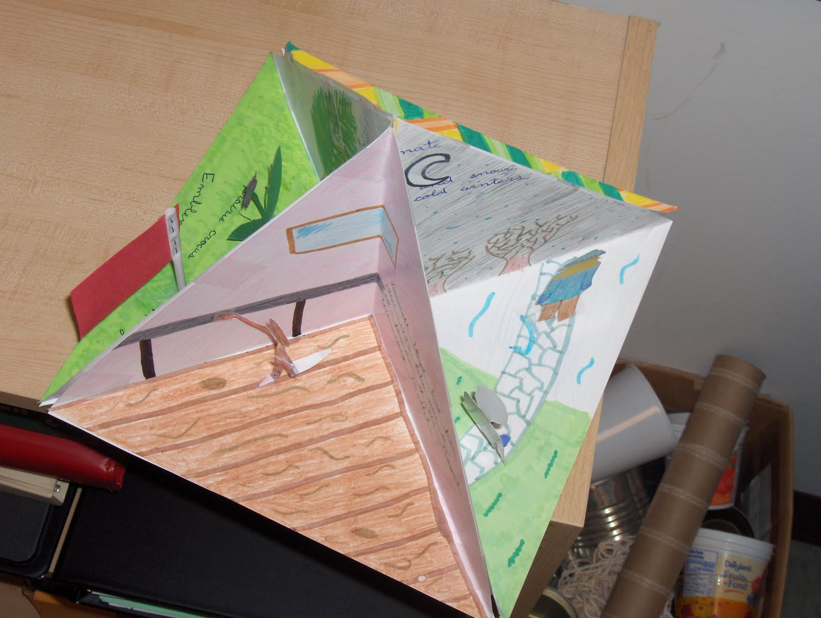 Blog hoppin 39 response to reading quadramas for Creative ways to make a book for a project