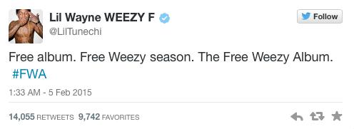 "Lil Wayne To Release ""Free Weezy Album"""