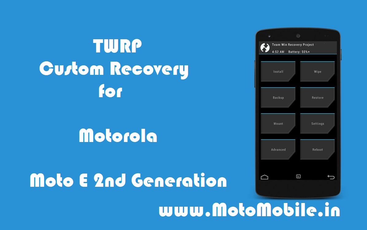 Moto E 2nd Generation TWRP / CWM recovery
