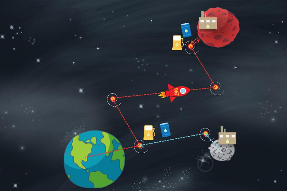 Ruta más indicada a Marte
