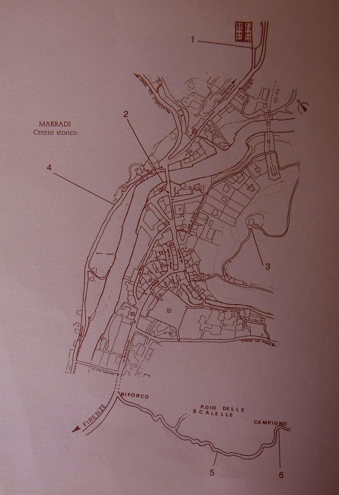 Il blog della biblioteca di marradi in giro per marradi for Planimetrie del paese di collina